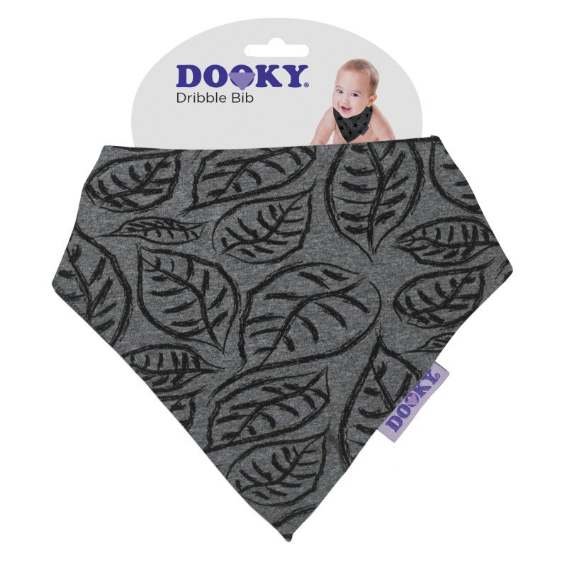 Produkt - Podbradník Dribble Bib Grey Leaves